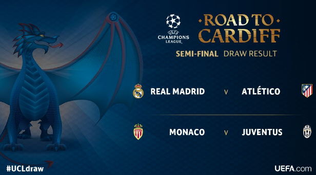 Champions League, semifinale: Real Madrid vs Atletico Madrid, Juventus vs AS Monaco
